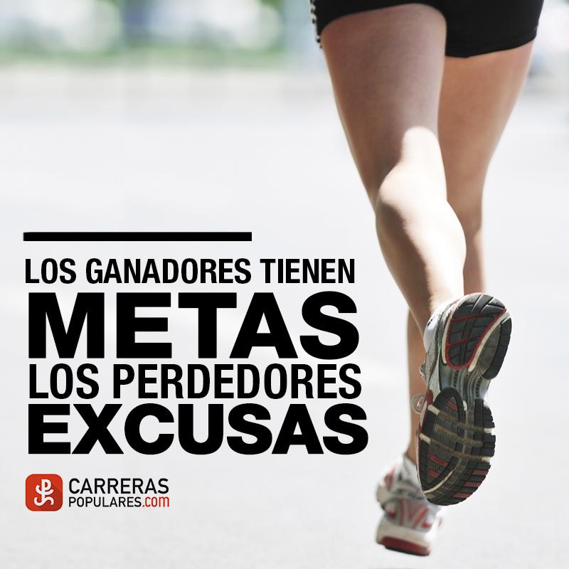 Los ganadores tienen metas. Los perdedores excusas.