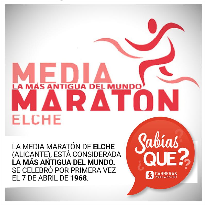 La Media Maratón de Elche, considerada la más antigua del mundo, se celebró por primera vez el 7 de abril de 1968.