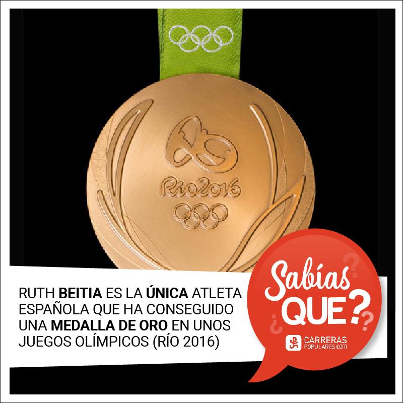 Ruth Beitia es la única atleta española que ha conseguido una medalla de oro en unos Juegos Olímpicos.