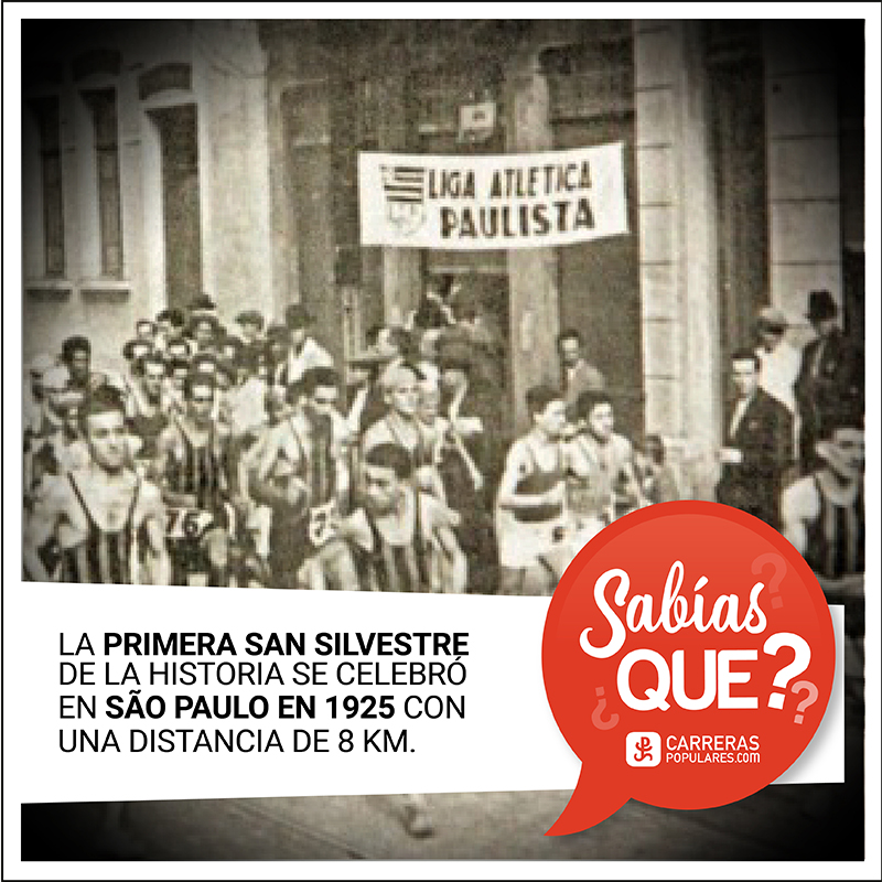 #SabíasQue fue en Sao Paulo, el 31 de diciembre de 1925, cuando tuvo lugar la primera #SanSilvestre? En la actualidad, esta carrera brasileña sigue siendo considerada la más popular internacionalmente.