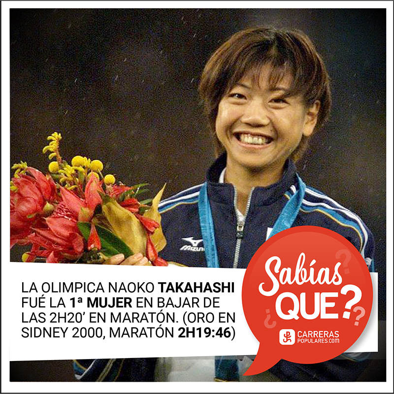 Naoko Takahashi - (6 de mayo de 1972 en Gifu, Japón). Corredora japonesa de larga distancia. Fue la primera mujer en bajar la barrera de las 2 horas y 20 minutos en la maratón