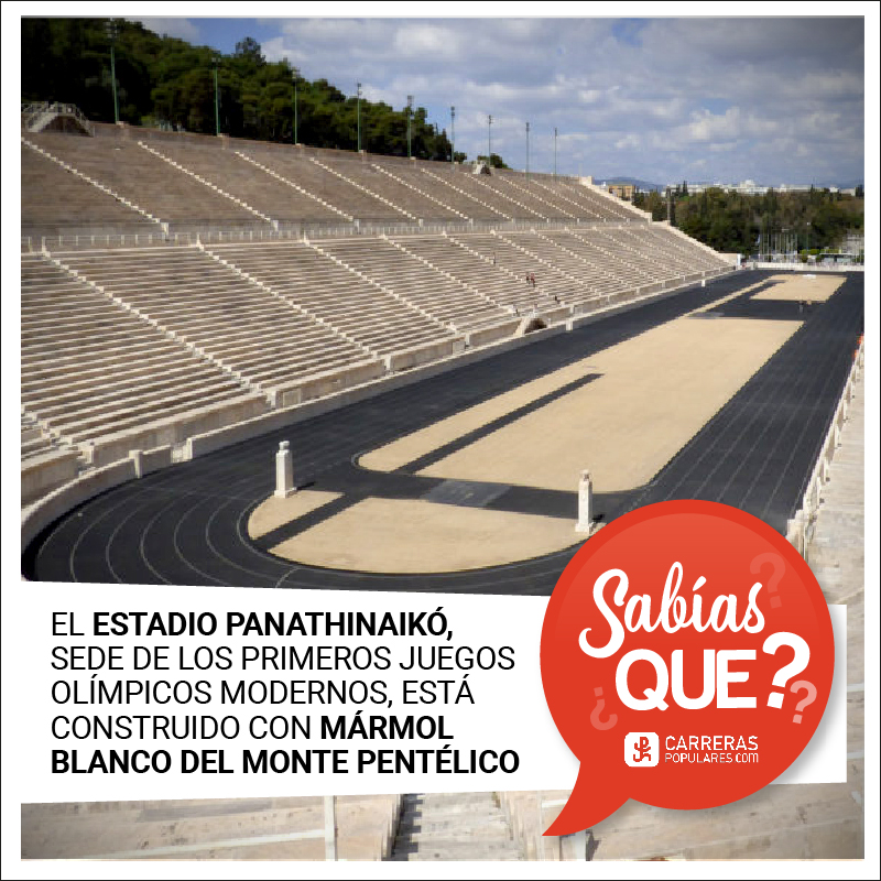 El Estadio Panathinaikó, sede de los primeros Juegos Olímpicos Modernos, está construido con mármol blanco del Monte Pentélico.